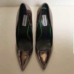 Steve Madden Bronze Metallic Heels